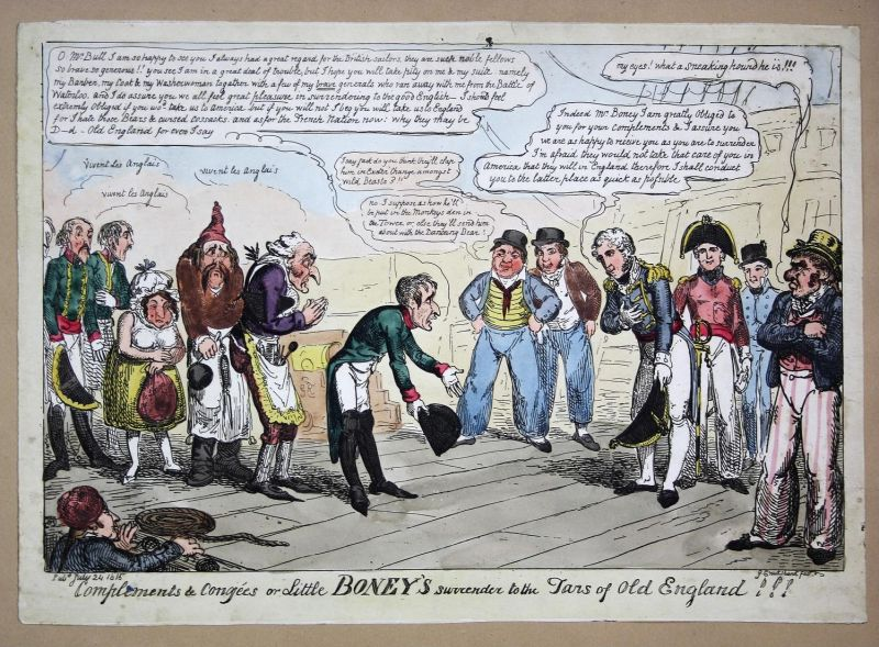 Complements & congées or Little Boney's surrender to the tars of old England!!! - Napoleon defeat Niederlage H