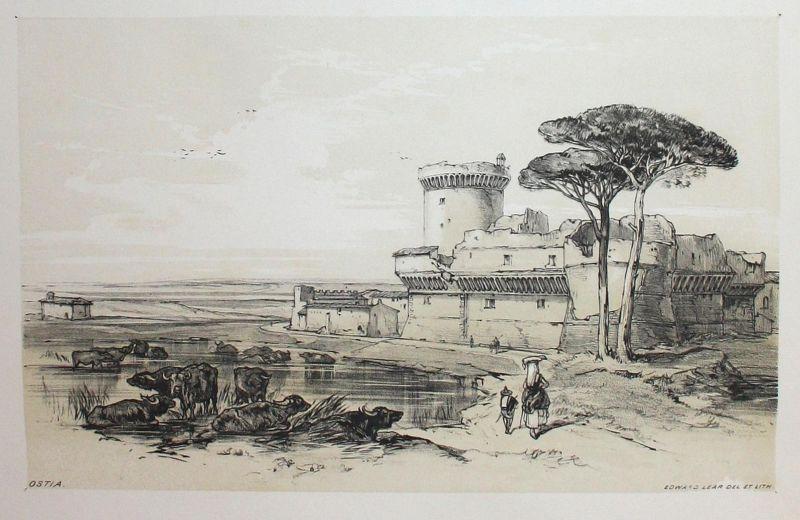 Ostia - Ostia Rom Rome Italien Italia Italy Lithographie lithograph antique print 0