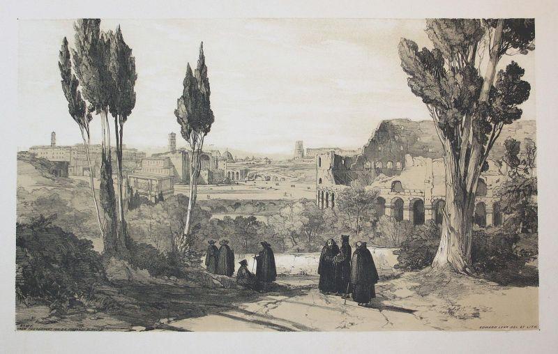 Rome. From the Convent of S. S. Ciovanni E. Paulo - Santi Giovanni e Paolo Rom Rome Italien Italia Italy Ansic