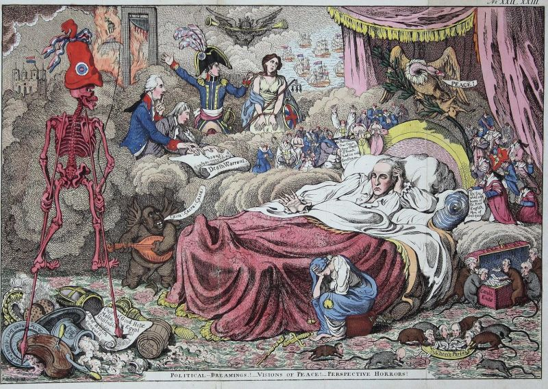 Political-dreamings! -visions of peace! -perspective horrors! - William Windham dream nightmare Traum Albtraum 0