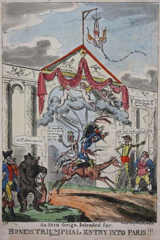 An Arch design, Intended for; Boneys Triumphal Entry Into Paris!!! - Napoleon Bonaparte Parisian arch Bogen Do