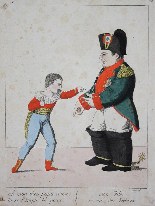 Ah mon dieu papa comme tu es rempli de poux, mon Fils, ce son des Frédérés - Napoleon Bonaparte lice Läuse pou