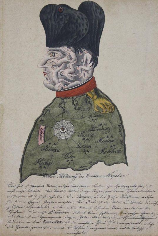 Wahre Abbildung des Eroberers Napoleon - Napoleon Bonaparte France Frankreich Portrait Karikatur cartoon water