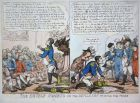 The double humbug or the devils imp praying for peace - Napoleon Bonaparte speech 1813 devil Teufel diable Tia