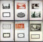 Album with visiting-cards from the 1780's. / Album mit Visitenkarten aus dem 18. Jahrhundert.