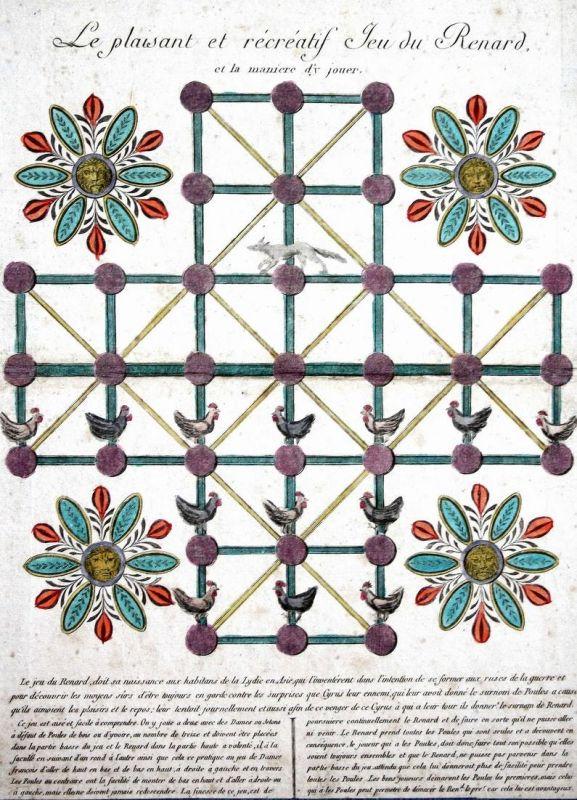 Le plaisant et récréatif Jeu du Renard - strategy board game Spiel jeu Spiele games 18th century