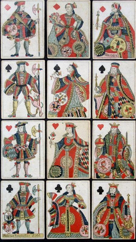 Churbaierische Französische Karte - Bayern Bavaria playing cards Spielkarten cartes à jouer Kartenspiel game S