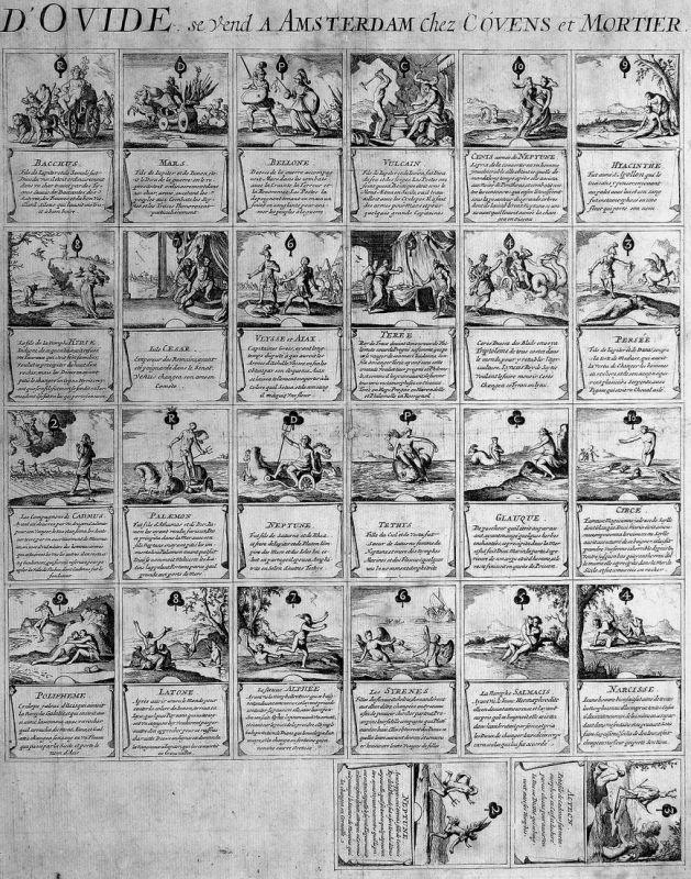 Jeu des metamorphoses d'Ovide. - Metamorphoses Ovid playing cards Spielkarten cartes à jouer Kartenspiel uncut