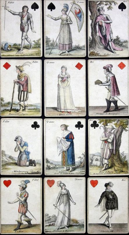 Joan of Arc transformation deck / Jeanne d'Arc Transformations Spielkarten - Joan of Arc playing cards Spielka
