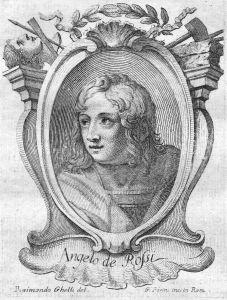 Angelo de Rossi - Angelo de Rossi Bildhauer sculptor Portrait Italien Italia Kupferstich copper engraving anti