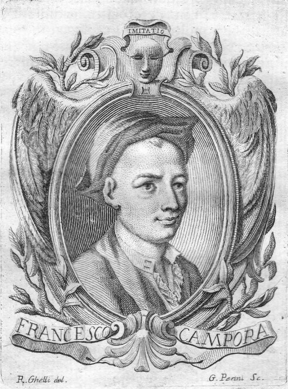 Francesco Campora - Francesco Campora Maler painter Portrait Italien Italia Kupferstich copper engraving antiq