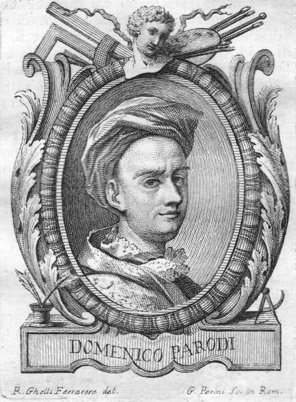 Domenico Parodi - Domenico Parodi Maler painter Bildhauer sculptor Portrait Italien Italia Kupferstich copper