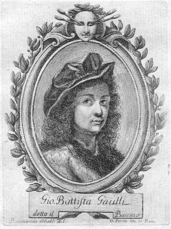 Gio. Battista Gaulli - Giovanni Battista Gaulli Maler painter Portrait Italien Italia Kupferstich copper engra