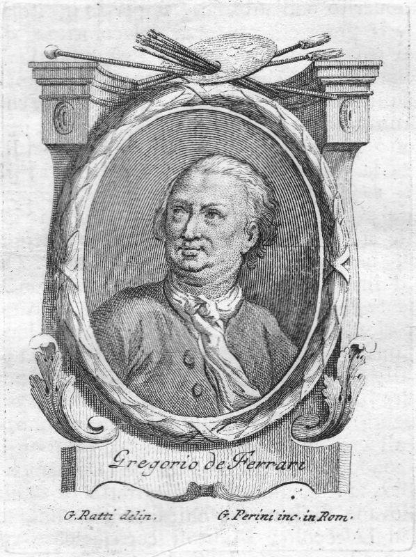 Gregorio Ferrari - Gregorio De Ferrari Maler painter Portrait Italien Italia Kupferstich copper engraving anti