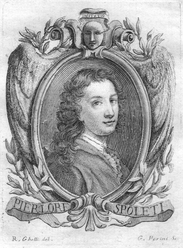 Pier Lore. Spoleti - Pier Lorenzo Spoleti Maler painter Portrait Italien Italia Kupferstich copper engraving a