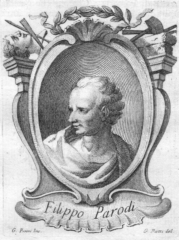 Filippo Parodi - Filippo Parodi Bildhauer sculptor Portrait Italien Italia Kupferstich copper engraving antiqu