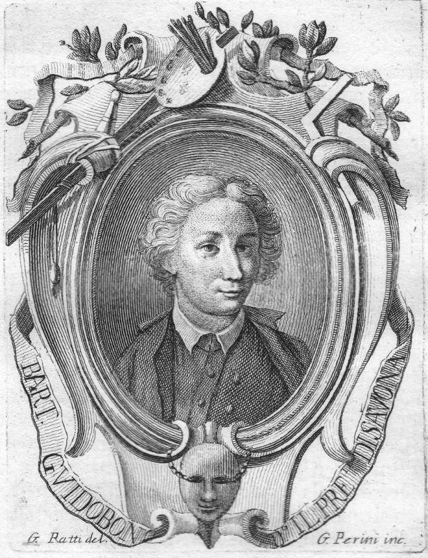 Bart. Guidobon d'Il pre Disavona - Bartolomeo Guidobono Maler painter Portrait Italien Italia Kupferstich copp