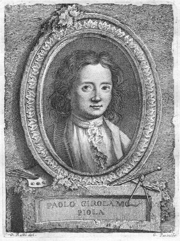 Paolo Girolamo Piola - Paolo Gerolamo Piola Maler painter Portrait Italien Italia Kupferstich copper engraving