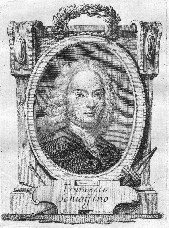Francesco Schiaffino - Francesco Maria Schiaffino Bildhauer sculptor Portrait Italien Italia Kupferstich coppe
