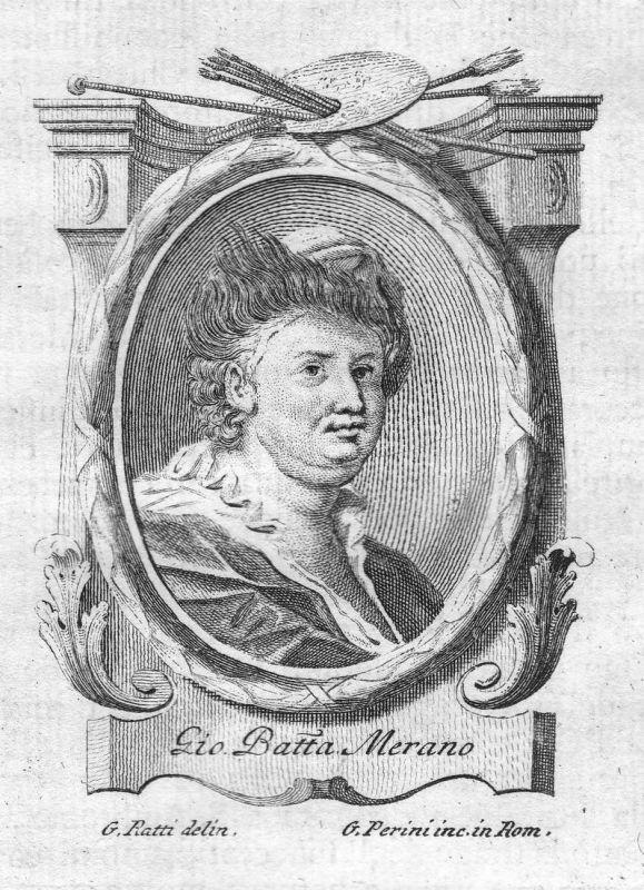 Gio. Batta Merano - Giovanni Battista Merano Maler painter Portrait Italien Italia Kupferstich copper engravin