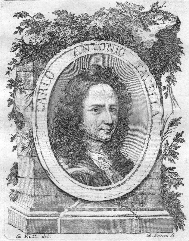 Carlo Antonio Tavella - Carlo Antonio Tavella Maler painter Portrait Italien Italia Kupferstich copper engravi