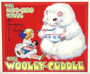 Complete set of 15 watercolor and ink drawings for 'The Woolly-Cuddle helps the lost little girl.'