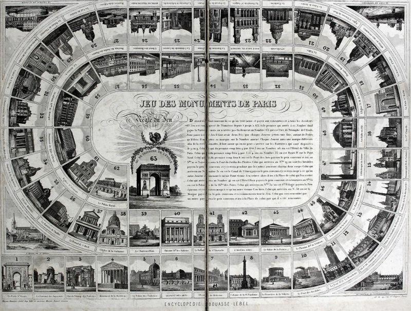 Jeu des Monuments de Paris - Jeu de Paris monuments game board game Spiel jeu alte Spiele antique games