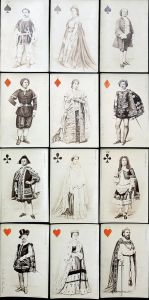 Parisian Actors and Opera Singers - First photographic playing cards Spielkarten cartes a jouer Kartenspiel Pa