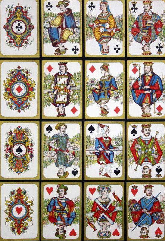 Cartes Moyen-Age - Historical costume Trachten costumes Spielkarten cartes a jouer Kartenspiel Playing cards c
