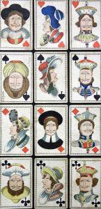 Metamorphosen oder Verwandlungs-Karte - Topsy Turvy playing cards upside-down Spielkarten Kartenspiel cartes a