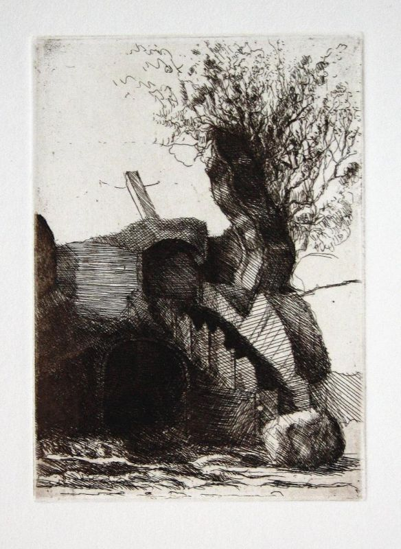 Romantisches Ensemble - Peter Ackermann Radierung etching