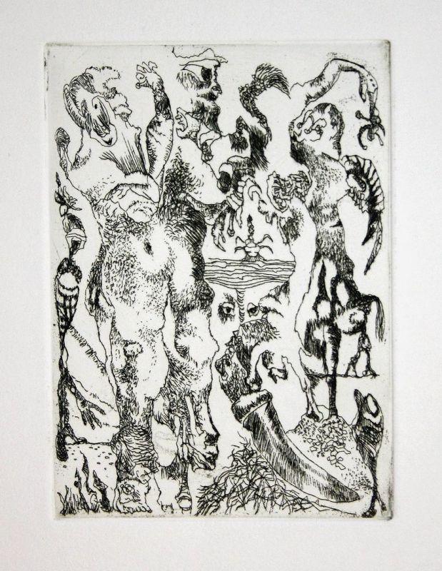 Migof-Palaver - Bernard Schultze Radierung etching