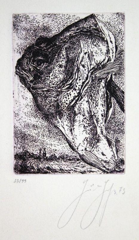 Günter Grass Radierung signiert etching sign Signierung signing