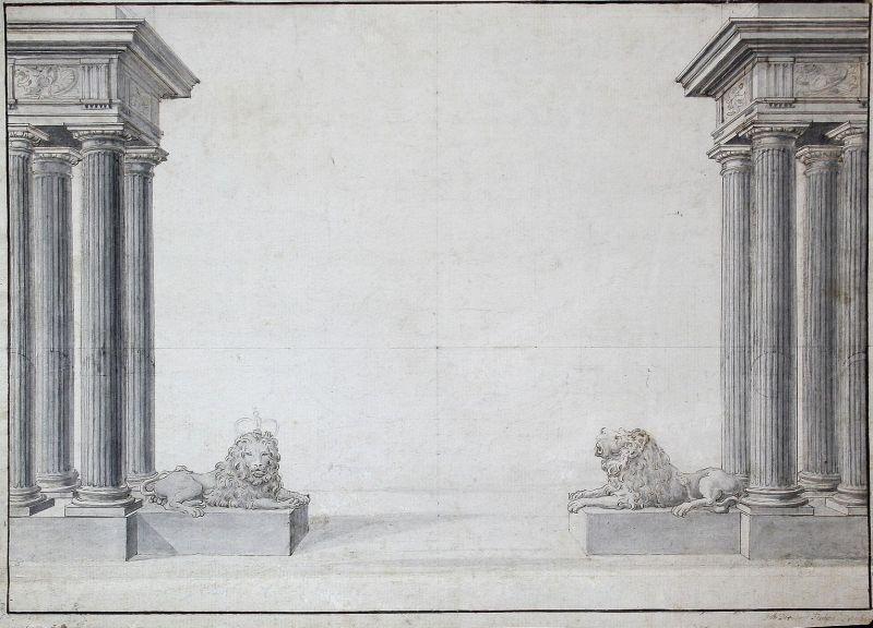 Design for the gateway of Schloss Klessheim near Salzburg.