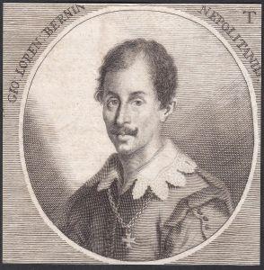 Gio. Loren. Bernin Nepolitanus - Gian Lorenzo Bernini Bildhauer sculptor Architekt architect Portrait Italien