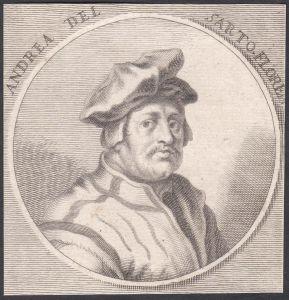 Andrea del Sarto - Andrea del Sarto Maler painter Portrait Italien Italia Kupferstich copper engraving antique