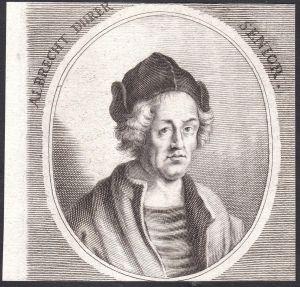 Albrecht Durer Senior - Albrecht Dürer der Ältere Goldschmied goldsmith Portrait Nürnberg Kupferstich copper e