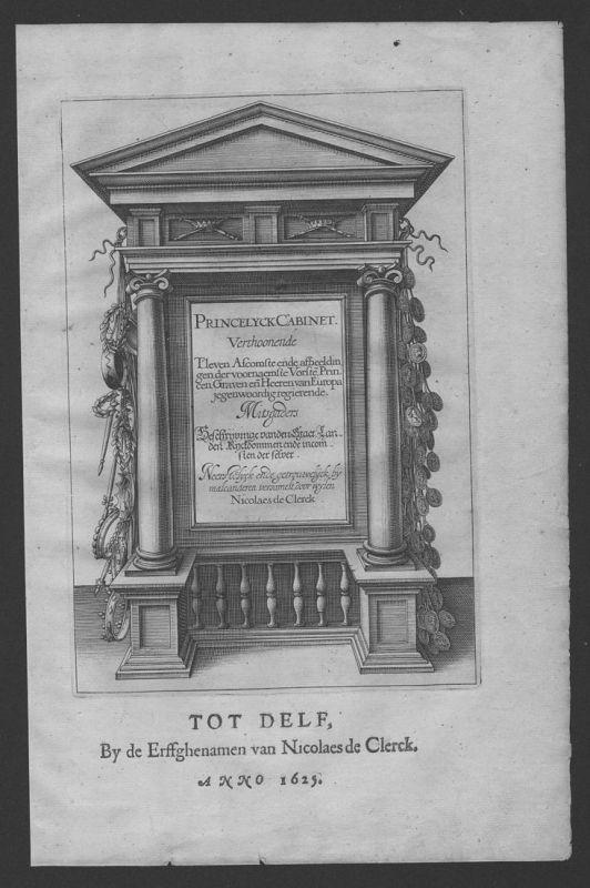 Princelyck Cabinet Delft Titelblatt title Kupferstich engraving