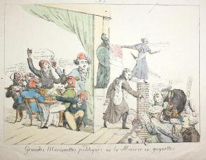 Grandes Marionettes politiques ou la Minerve en goguettes - Revolution Feier celebration Minerva Cambaceres to