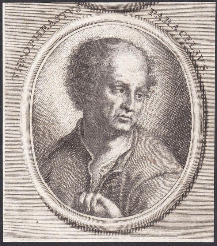 Theophrastus Paracelsus - Paracelsus Arzt doctor Theologe theologian Portrait Kupferstich copper engraving ant
