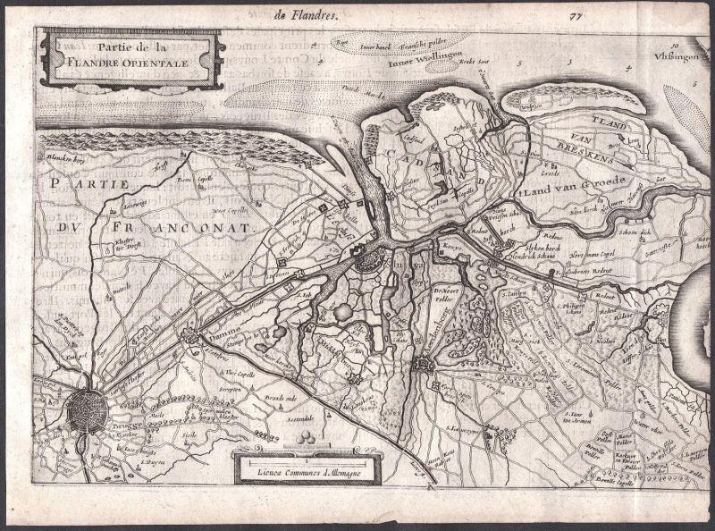 Partie de la Flandre Orientale - Brügge Aardenburg Sluis Vlaanderen Flandern Belgien Belgique Colom Holland Ne