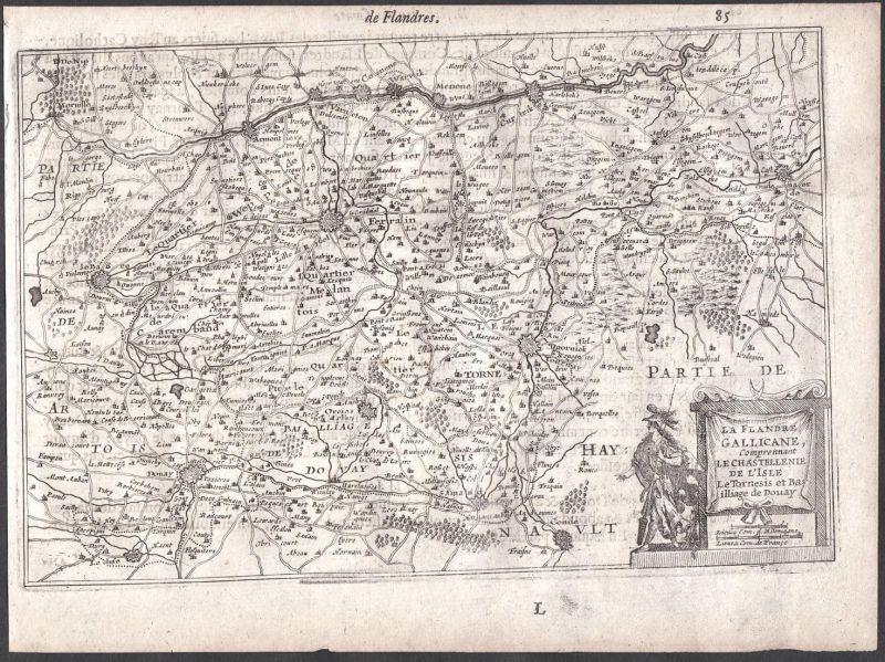 La Flandre Gallicane, Comprennant le Castellenie de l'Isle le Tornesis et Bailliage de Douay - Douai Tournai N
