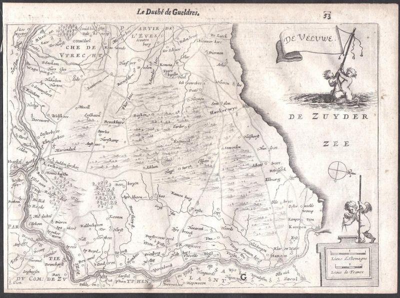 De Veluwe - Harderwijk Arnheim Kampen Veluwe Colom Holland Nederland map carte