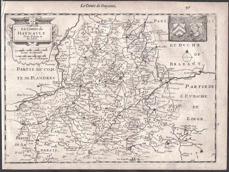 Le Comte de Haynault - Valenciennes France Chimay Tournai Colom Holland Nederland map carte