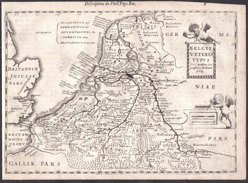 Belgii Veteris Typus - Antwerpern Antwerp Gent Ghent Brügge Bruges Colom Holland Nederland map carte 0