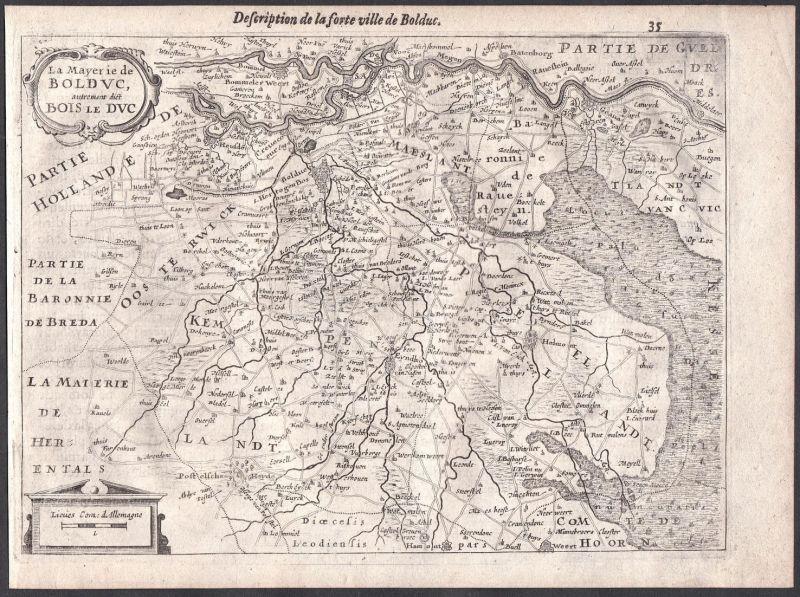 La Mayerie de Bolduc, autrement dict Bois le Duc - 's-Hertogenbosch Heusden Niederlande Colom Holland Nederlan