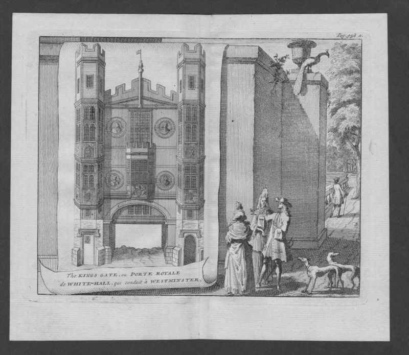 Westminster Kings Gate London engraving Original Kupferstich 0