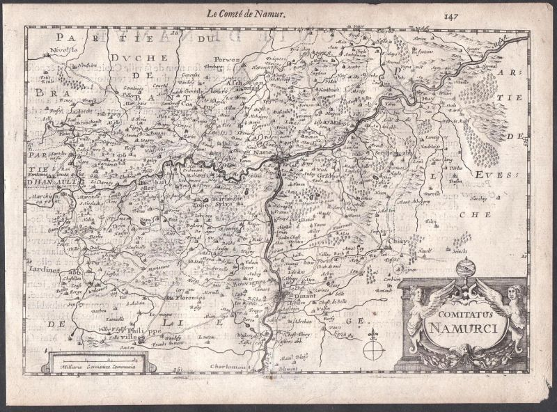 Comitatus Namurci - Dinant Namur Philippeville Charleroi Colom Holland Nederland map carte