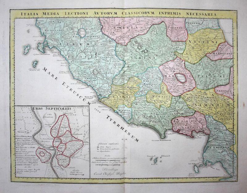 Italia Media Lectioni Autorum Classicorum Inprimis Necessaria - Italy Italia Italien Orbetello Roma Rome Rom N