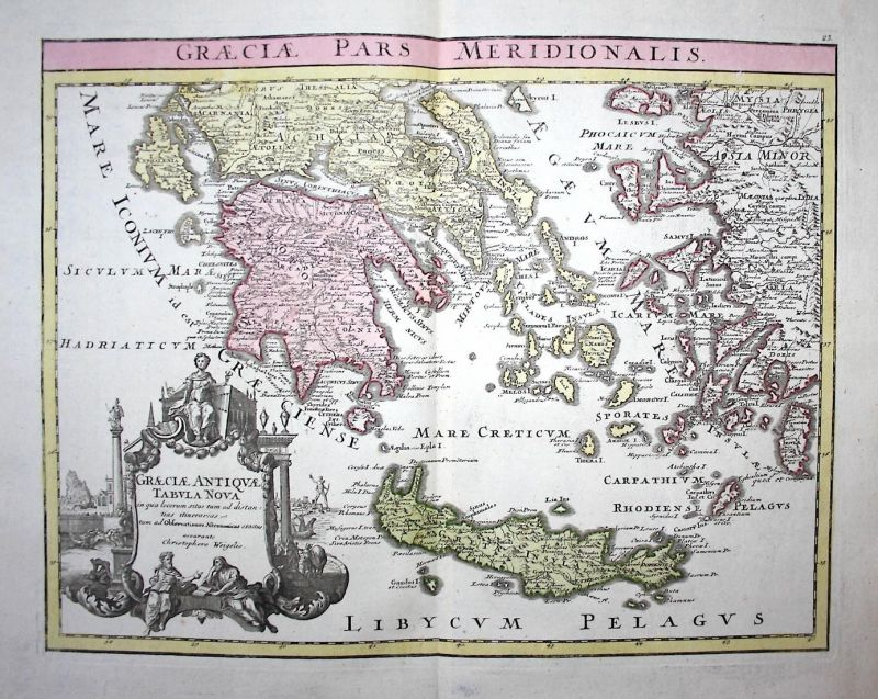 Graeciae Pars Meridionalis - Southern Greece Griechenland Kreta Crete Mediterranean Sea See Antike antiquity K
